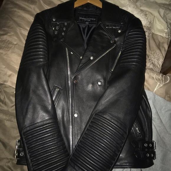 044986193 MASON & COOPER Empire Leather Moto Jacket